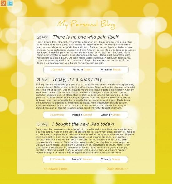 How to design a Minimalistic Blog Theme