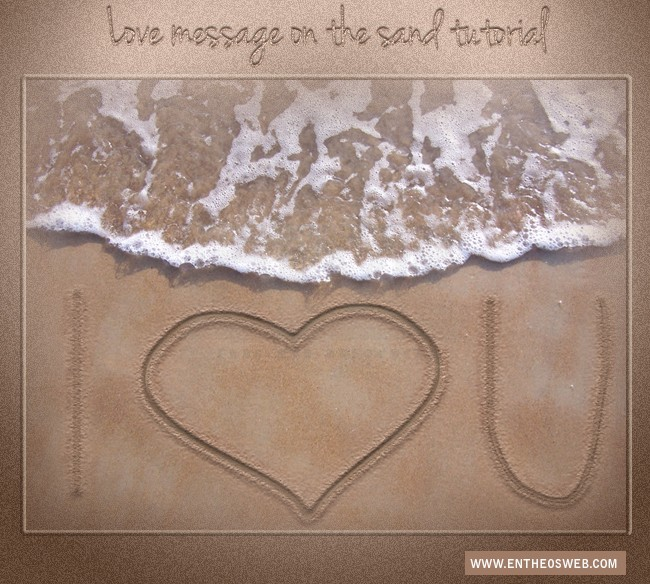 Create A Love Message On The Sand Photoshop Tutorial