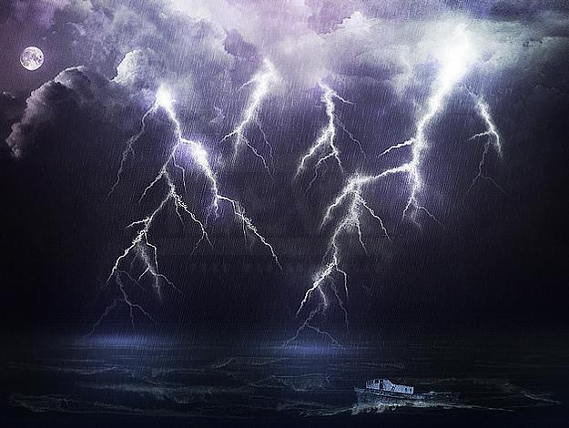 Rain, Lightning, Furious Ocean: The Perfect Storm!