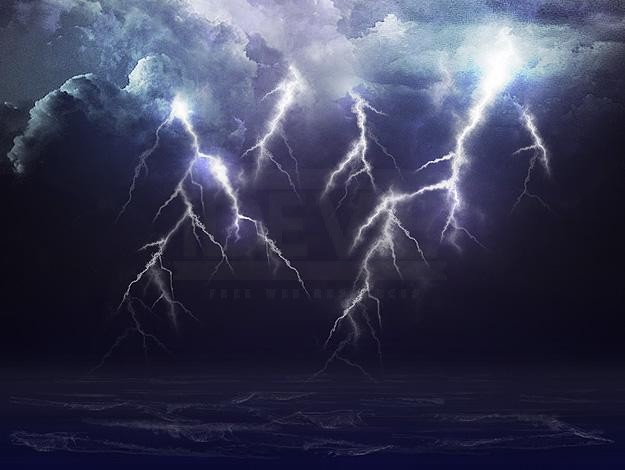 Rain Lightning Furious Ocean The Perfect Storm