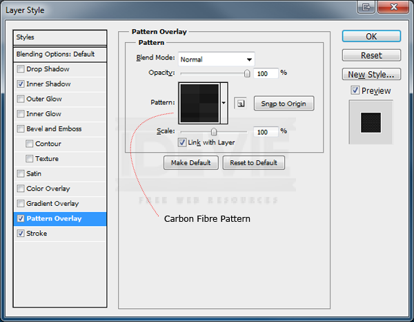 Learn How To Create A Metallic Carbon Fibre Icon
