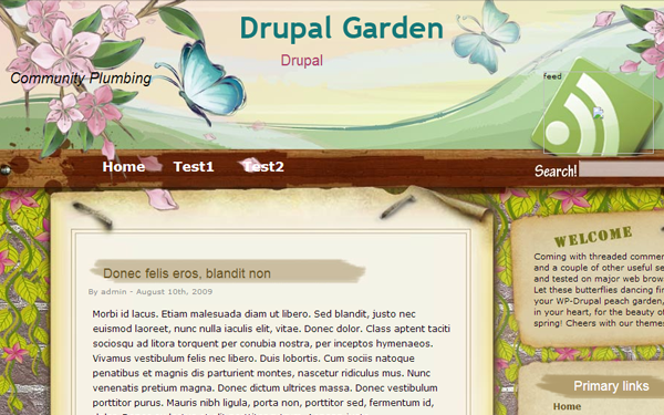 Full garden theme website drupal template