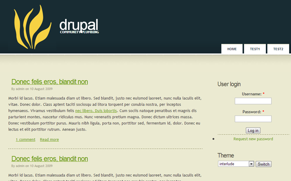 freebie drupal theme 7 download template