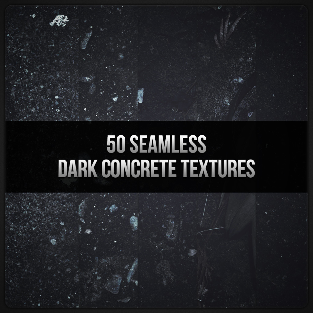 Freebie: 10 Seamless Dark Concrete Textures