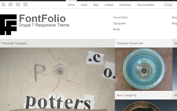 classic minimal drupal theme freebie fontfolio typography