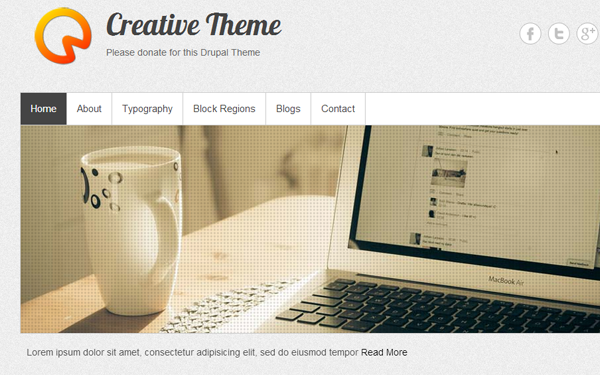 awesome creative drupal theme freebie demo preview