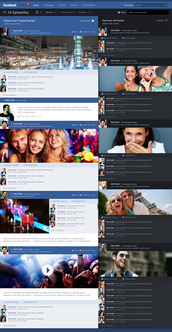 Facebook - New Look & Concept by Fred Nerby