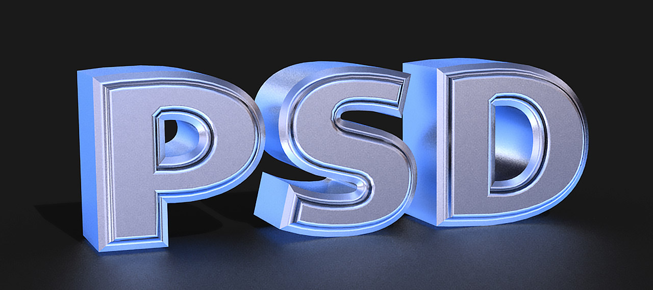 3D Chrome Text in Photoshop CS6 Extended