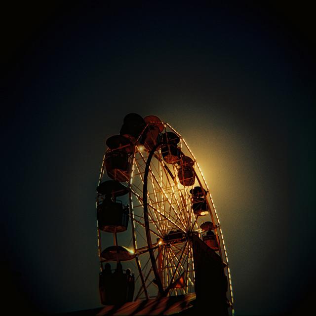 Backlit Ferris Wheel