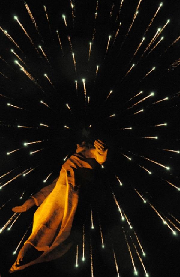 Cristo del Picacho-rio new year fireworks 2013