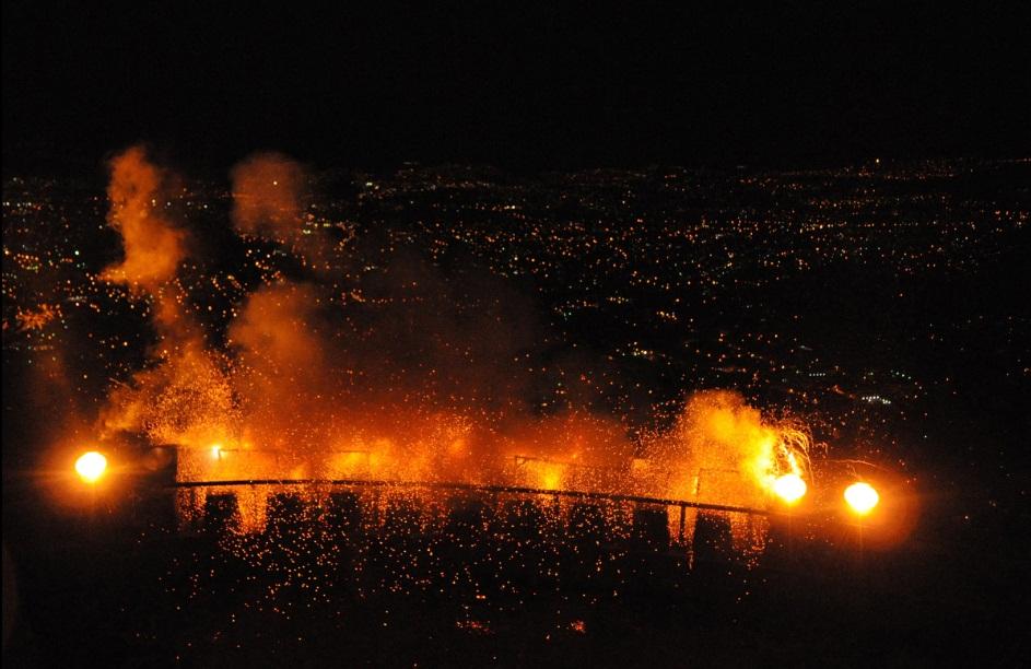 Tegucigalpa Honduras new year fireworks 2013