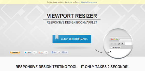 Viewport Bookmarklet