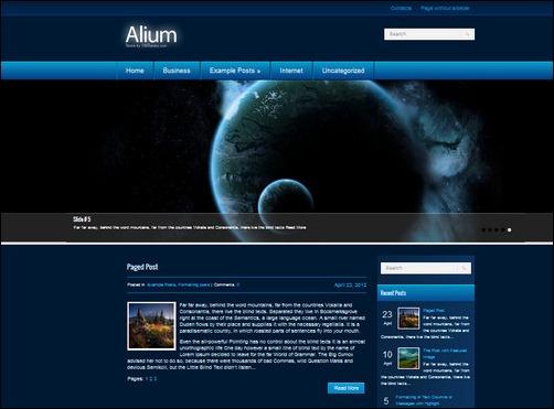 alium wordpress gaming themes