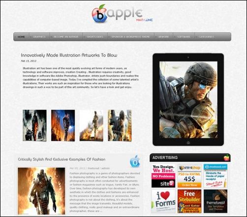 boo apple wordpress gaming themes