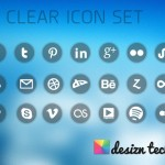 Free Clear Social Media Icons with PNG & PSD