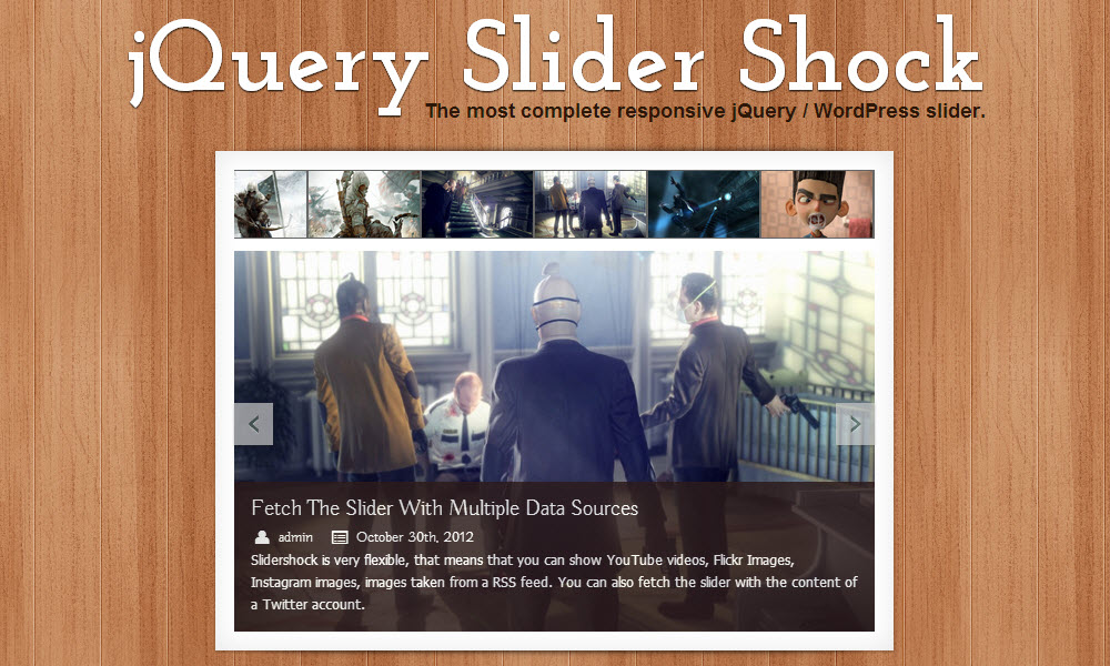 jQuery Slider Shock: The Most Complete Slider