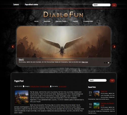 diablofun wordpress gaming themes