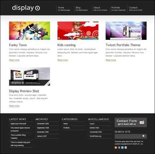 display-wordpress-portfolio-theme