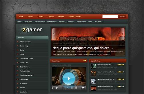egamer wordpress gaming themes