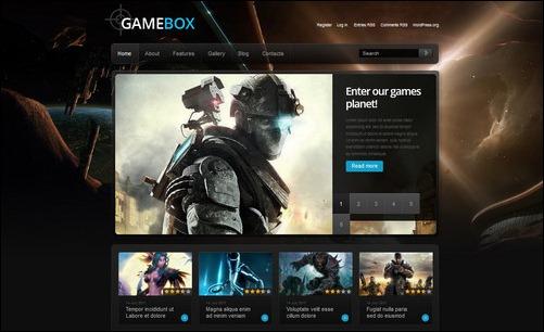 gamebox wordpress gaming themes