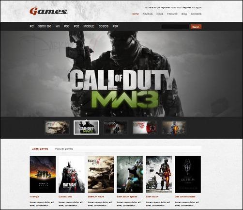 games wordpress gaming themes