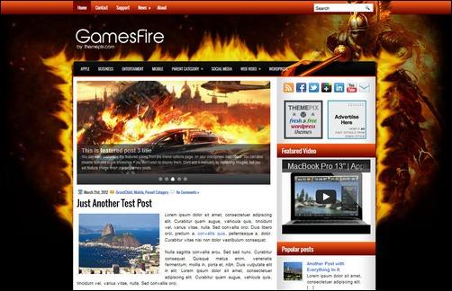 gamesfire wordpress gaming themes