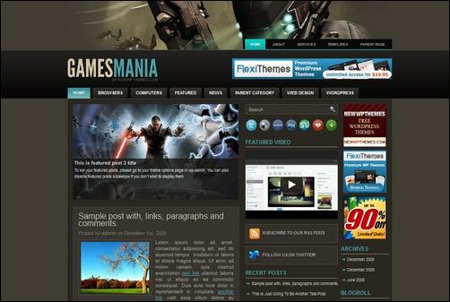 gamesmania wordpress gaming themes