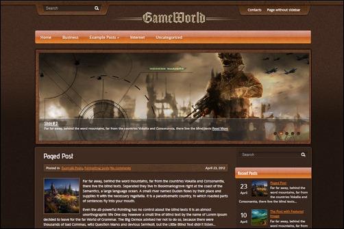 gameworld wordpress gaming themes