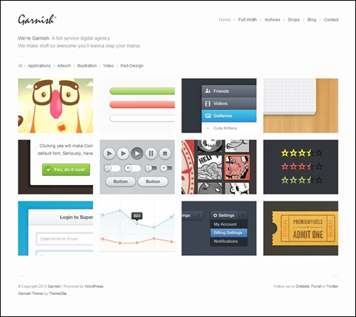 garnish-portfolio-wordpress-theme
