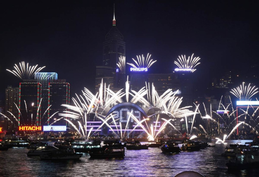 hongkong new year fireworks 2013