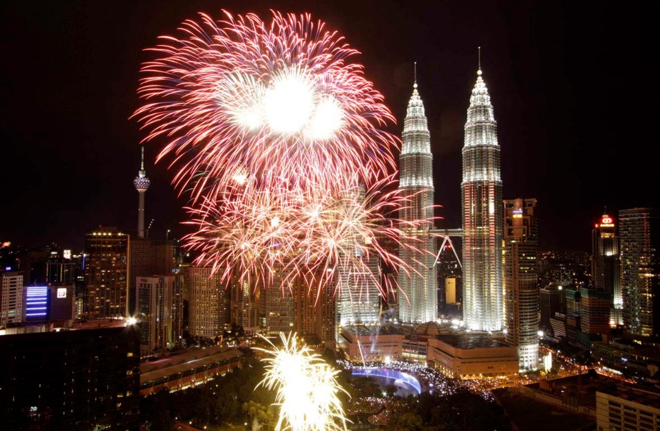 kuala lumpur new year fireworks 2013