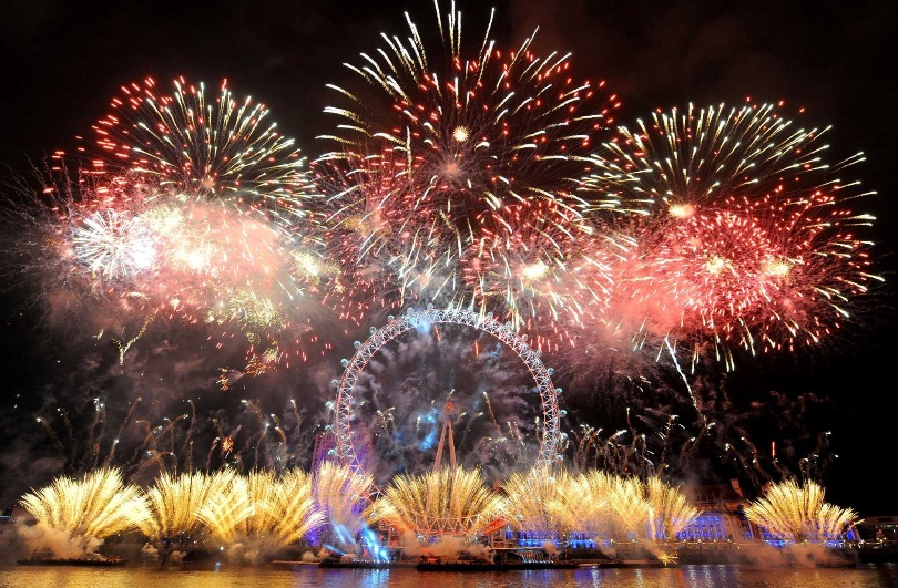 london-eye fireworks 2013