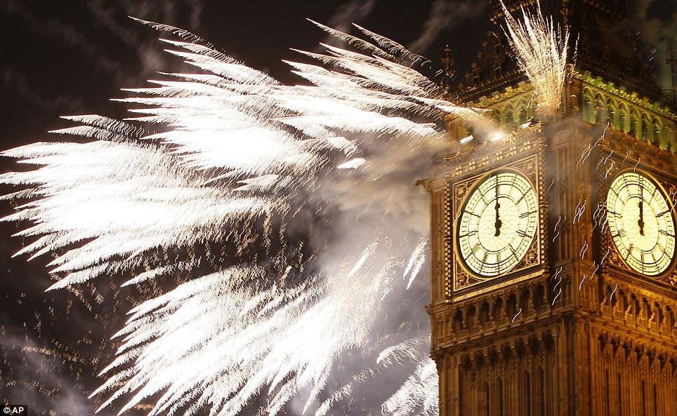 london new year fireworks 2013