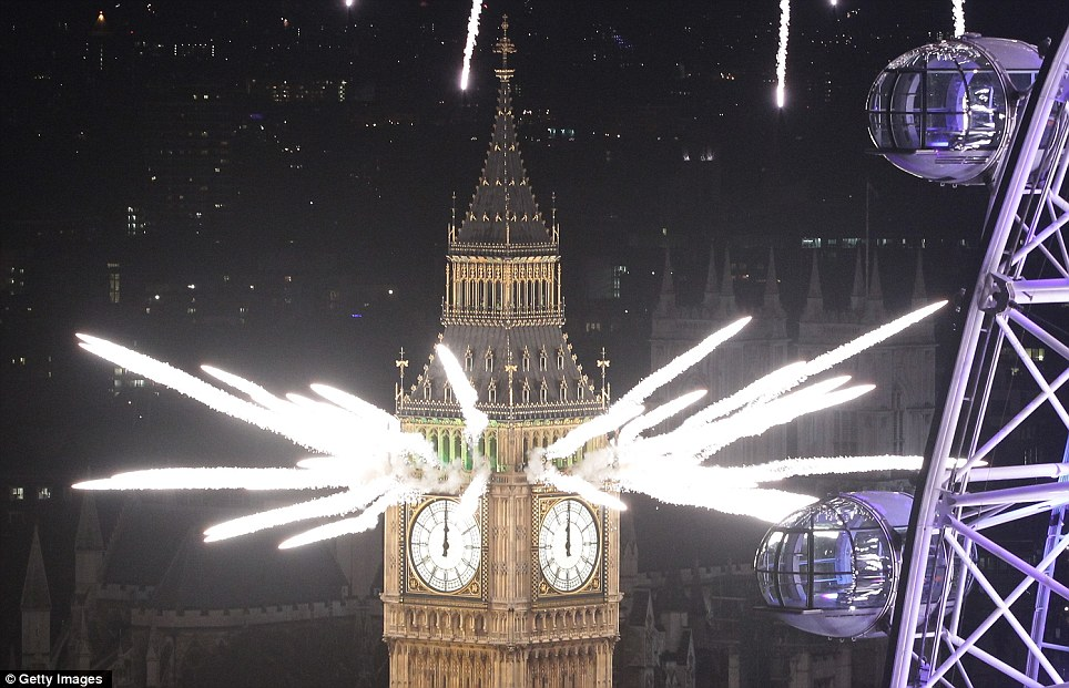 London new year fireworks 2013