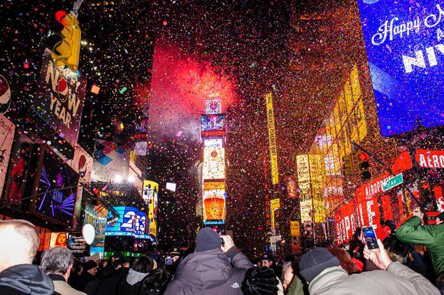 newyork new year fireworks 2013
