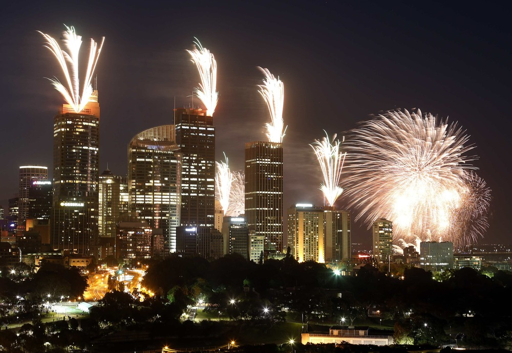 Sydney new year fireworks 2013