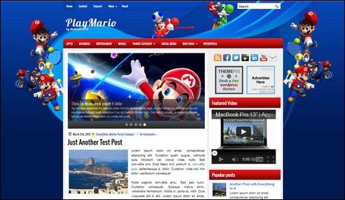 playmario wordpress gaming themes