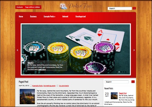 poker fan wordpress gaming themes