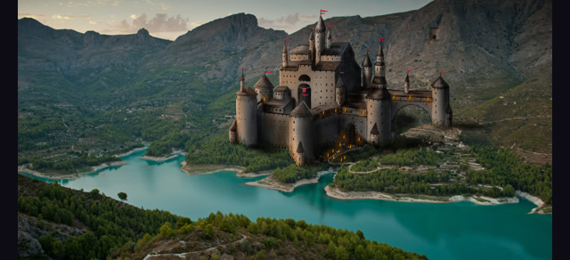 Paint a Castle in Photoshop - Best Photoshop Tutorials from 2012