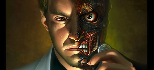 Two-Faced Digital Painting - Best Photoshop Tutorials from 2012