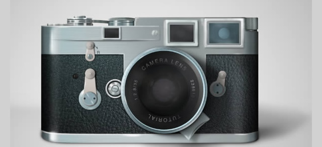 Draw a Leica Camera - Best Photoshop Tutorials from 2012