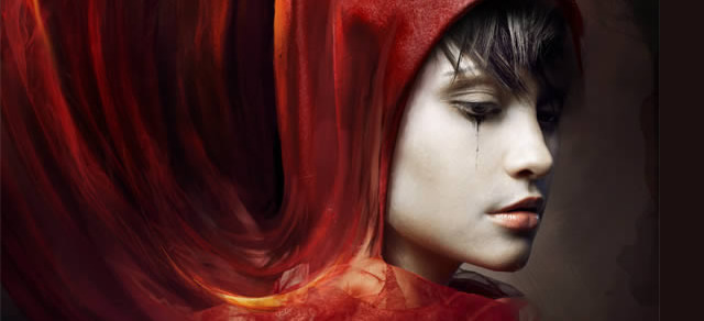 Red Riding Hood Themed Photo Manipulation - Best Photoshop Tutorials from 2012