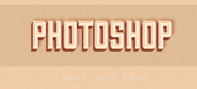 Hipster Text Effect - Best Photoshop Tutorials from 2012