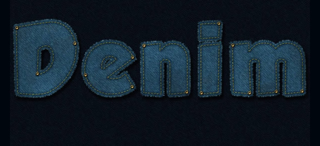 Stitched Denim Text Effect - Best Photoshop Tutorials from 2012