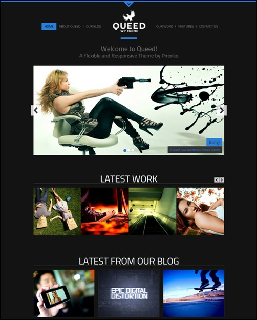 queed-dark-wordpress-theme
