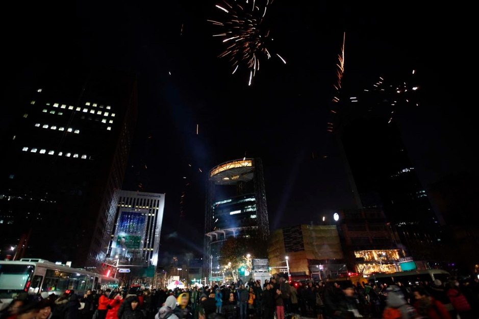 Seoul new year fireworks 2013