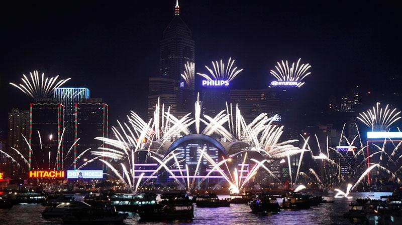 singapore new year fireworks 2013