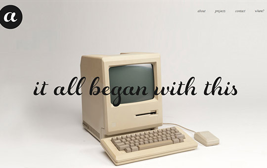 instantShift - Single Page Website Design Inspiration