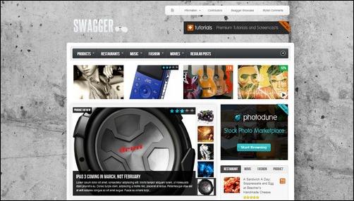 swagger wordpress gaming themes