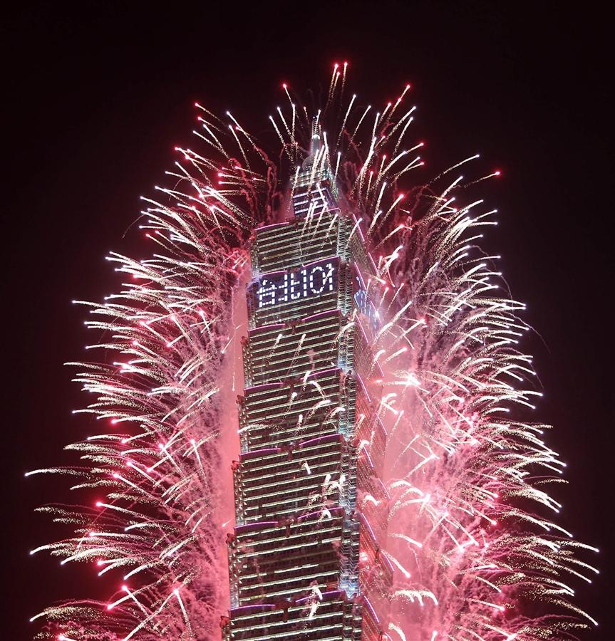 Taiwan new year fireworks 2013